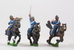 PO32 Prussian: Cavalry: Command: Dragoon Officer, Standard Bearer & Drummer