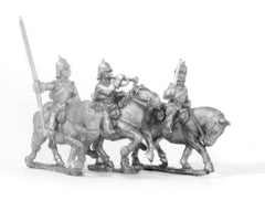 PO36 Prussian: Cavalry: Command: Cuirassier Officer, Standard Bearer & Trumpeter