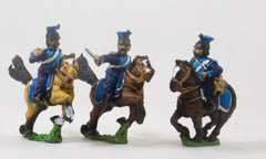 PO38 Prussian: Cavalry: Command: Lancer Officer, Standard Bearer & Trumpeter