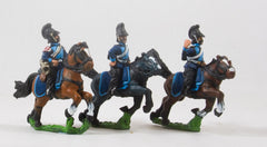 PO42 Prussian: Bavarian Cavalry: Command: Cheveau Leger Officer, Standard Bearer & Trumpeter