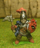 Q115 Chaos Warrior: Fighter in Mail, with Cloack, carrying Axe & Shield