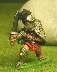 Q130 Gladiator: in Helmet, with Shield & Sword