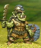 Q33 Orc: in Leather & Chains, with Shield & Cutlass