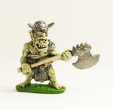 Q37 Orc: with Horned Helmet and Great Axe