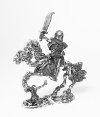 Q89 Skeleton: Mounted with hooded cloak and Cutlass on galloping horse