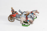 RCH1 4-Horse Racing Chariot, plain (no detail), with Roman Driver in helmet