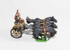 RCH2 4-Horse Racing Chariot with driver in tunic, no helmet
