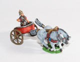 RCH3 2-Horse Racing Chariot with Roman Driver in helmet