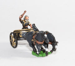 RCH4 2-Horse Racing Chariot with driver in tunic, no helmet