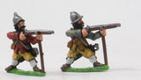 REN12 ECW: Musketeers in Helmets, with Musket Rest, no Apostles, firing