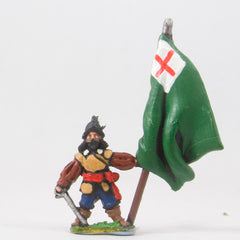 REN17 ECW: Command: Standard Bearers in Helmets