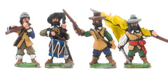 REN20a ECW: Command: Officers, Standard Bearers with cast metal flags, Drummer and Filer in Hats