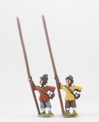 REN26 ECW: Medium Pikemen in Helmets, pike upright