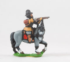 REN61 ECW: Mounted Arquebusier in Cuirass and Morion, firing