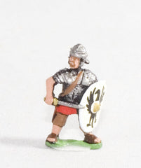 RO37a Middle Imperial Roman: Legionary with sword and shield