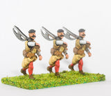 RPO1a Polish: Musketeer advancing with 2 Handed Axe, in Cap