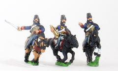RVY11 French Revolutionary Wars: Command: Hussar Officer, Standard Bearer & Trumpeter
