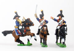 RVY9 French Revolutionary Wars: Command: Cuirassier Officer, Standard Bearer & Trumpeter