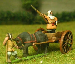 SAM17 Samurai: Warrior Monk General standing in cart with horse and attendant
