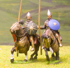 SAP4 Sassanid Persian: Clibanarii in scale armour, assorted heads