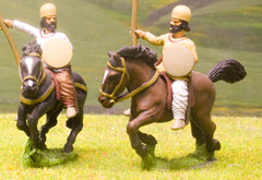 SAP7 Sassanid Persian: Medium / Light Cavalry with Lance, Bow & Shield, head variants