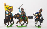SYA20 Seven Years War Austrian: Command: Hussar Officer, Standard Bearer, & Trumpeter
