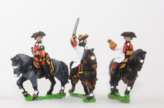 SYA21 Seven Years War Austrian: Command: Mounted General with two Staff Officers