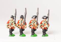 SYBR1a Seven Years War British: Musketeers, advancing, Musket upright, assorted