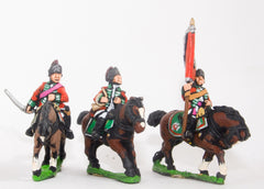 SYBR13 Seven Years War British: Command: Light Dragoon Officer, Standard Bearer & Musician