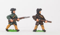 SYBR20 Seven Years War British in Canada: Militia in assorted dress and poses