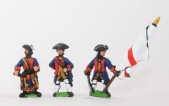 SYBR21 Seven Years War British in Canada: Command: Militia Officers, Standard Bearers & Drummers