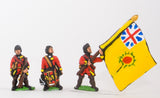 SYBR29 Seven Years War British in Canada: Command: Officer, Standard Bearer & Drummer in Campaign Dress