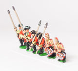 SYBR5c Seven Years War British: Command: Line Infantry Officer, Standard Bearer & Drummer, with variants