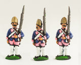 SYP5a Seven Years War Prussian: Fusilier at attention (variants)