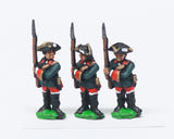 SYRU2a Seven Years War Russian: Musketeers, at the ready, musket upright