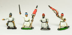 TSU8 Tang & Sui Chinese: 3 Officers & 3 Standard Bearers