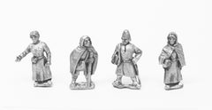 TT4 Camps: Six assorted standing Europeans - Dark Ages to Medieval