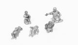 TT5 Camps: Six assorted laying/kneeling Europeans - Dark Ages to Medieval