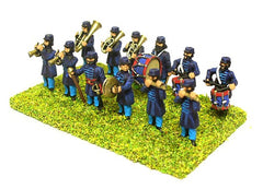 BGE10 Infantry band: Drum Major, Fifer, Bass Drum, Cymbals, 2 drummers and 5 brass instruments