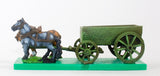WAG5 Open Wagon with full planked sides and  2 horses
