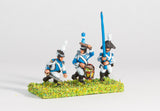 WES6 Westfalia or Berg: Line Infantry: Command: Officer, Standard Bearer & Drummer