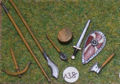 X38 Medieval Weapons: Axe, Shield, Sword, Lance, Bill, Crossbow, Mace & Barrel