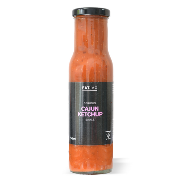 Fat-Jax Serious Cajun Ketchup takes on the all-time classic we all know and love. Blended with a mix of   Hand-Made by Chefs in small batches in Lancashire  Serve With: Pretty much anything, especially on chips or your breakfast butty!