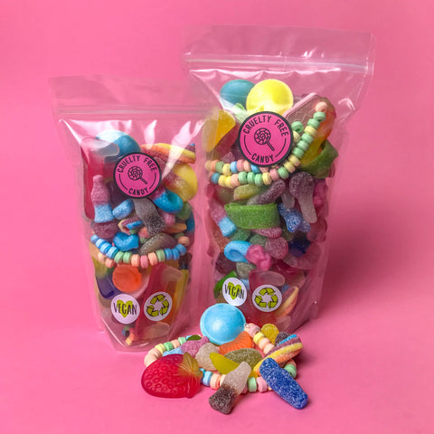 Cruelty Free Pick & Mix Style Sweets in Recyclable Pouch - 400g