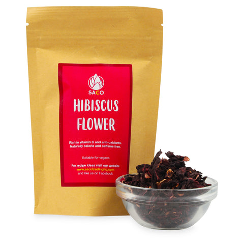 VEGAN HIBISCUS SUPERFOOD VITAMIN C NATURAL  calorie and caffeine-free.