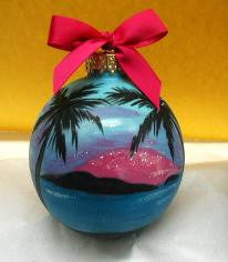 Christmas Ball Ornament - Caribbean Blue