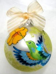 Christmas Ball Ornament - Hummingbird