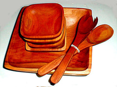 Mahogany Salad Bowl Set