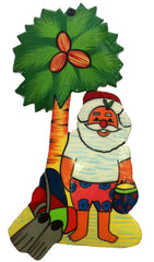 Santa with Palm Tree