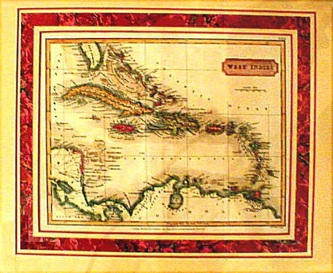SALE!! 1826 West Indies Map - Longman S. Hall